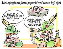 Alpini ad Asti! (Moise-Creativo Galattico) Tags: alpini vignette satira attualit moise asti giornalismo editoriali moiseditoriali editorialiafumetti