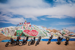 Salvation Mountain with Motorcycles-1196 (ken.larmon) Tags: california motorcycles roadtrip bikers saltonsea californiadesert salvationmountain bikerun leonardknight otherdesertcities kenlarmon kenlarmonphotography