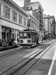 Cable car@San Francisco (KTO_RAY) Tags: sf sanfrancisco leica blackandwhite monochrome car cable cablecar bayarea powell bnw leicam leicam8