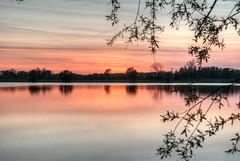 glow (stevefge (away travelling)) Tags: sunset sunlight water netherlands reflections sundown lakes nederland beuningen weurt grindgat nederlandvandaag reflectyourworld