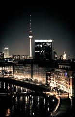 Midnight in Berlin (Mike Kniec) Tags: city building berlin water skyline architecture night dark waterfront outdoor nighttime citylights berlininnight