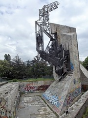 Abandoned art in Sofia, Bulgaria (Annie.A.Ko) Tags: park trip vacation sculpture art abandoned statue sofia bulgaria