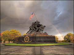 Happy Memorial Day - 2016 (DigitalManSKL) Tags: monument usmc army coast rainbow marine memorial day force flag military air united guard navy honor semper fi heroes states corp hdr iwo jima