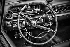 IMG_0137 (Silverio Photography) Tags: blackandwhite classic monochrome car boston photoshop canon vintage sigma cadillac anderson elements suburb 1770 vignetting brookline hdr topaz adjust larz 60d