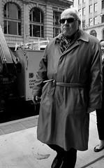 "Are they sure ""Rob Ford"" is dead ? (Neil. Moralee) Tags: street old blackandwhite bw white canada man black ford monochrome sunglasses scarf walking dead mono glasses belt mac nikon mayor candid smoke pipe bald neil rob crack mature drug tied raincoat mack balding disgrace incognito diguise d7100 toromto moralee lokalike neilmoralee canadaneilmoraleenikond7100 mackintock disraced"