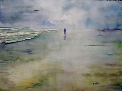 Cold Marine (benilder) Tags: blue sea cold beach watercolor marine aquarelle watercolour acuarela benilde coloresfros