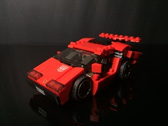 Chibi-Swipe Vehicle Mode Front (Sam.C MOCs) Tags: lego transformers sideswipe chibi moc mech robot anime scifi car lamborghini countach