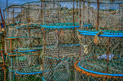Lobster pots in HDR (TD2112) Tags: color colour beach fishing hastings nets hdr highdynamicrange lobsterpots tonyduke