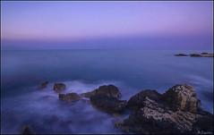 Atmsfera (antoniocamero21) Tags: color azul marina atardecer foto sony paisaje girona catalunya lescala larga exposicin