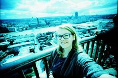 IMG_0005 London (spoeka) Tags: lomo lomography analog analogue 5mm kb dia slide xpro lcwide panorama kodakelitechromeed200 uk england london aussicht view skyline stpaulscathedral me selbstportrait selfportrait