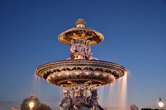 Water curtain (Sizun Eye) Tags: longexposure blue sculpture paris france water fountain nikon europe eu statues le d750 tamron fontaine westerneurope placedelaconcorde 2470mm poselongue europedelouest sizun tamron2470mmf28 bleuhour nikond750 sizuneye fontainedemer