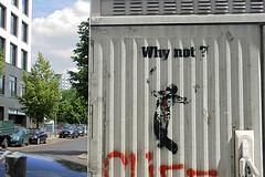 Why not? - Friedrichstrae (unterwegs_in_berlin) Tags: emess berlin streetart stencil sprhschablonen schneberg verteilerkasten whynot