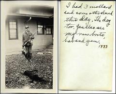 Grandpa D Duck Hunter (simbajak) Tags: windows bw white black building duck gun mallard fowl shotgun
