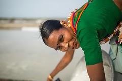Salt Makers (Akilan T) Tags: portrait woman india smile workers salt hardwork tamilnadu saltpan cwc environmentalportrait saltmakers marakanam chennaiweekendclickers cwc533