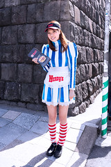 Wendy from Tokyo (tokyofashion) Tags: street food cute japan japanese restaurant tokyo cosplay stripes wendys wendy omotesando 2012 stripedsocks