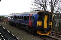 153318 - First Great Western (lazy south's travels) Tags: road uk england station train britain north plymouth railway class devon siding 153 sprinter dmu firstgroup 153318