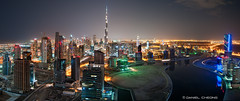 Spaceport Dubai (DanielKHC) Tags: city panorama night digital lights bay nikon dubai uae business khalifa dri hdr burj blending d300 danielcheong danielkhc tokina1116mmf28