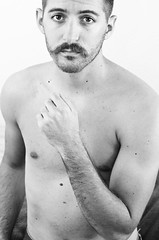 (Damien Cox) Tags: uk gay portrait bw selfportrait man male me flesh self ego myself beard mono nikon nipples skin body masculine moi balckandwhite topless homo torso homosexual queer scruff stubble i damiencox dcoxphotographycom