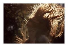 116/366 (Charlotte Catherine) Tags: light sunset summer portrait orange sunlight sorry self dark hair spring focus warm shadows bokeh dusk warmth flip blonde 365 obligatory hairflip 366 breatheme 116366 canoneos550d