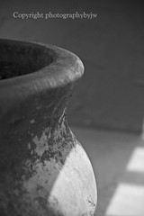 Pottery Shadows Black and White (Photographybyjw) Tags: white shadows shot north large mexican shade jar pottery carolinablack