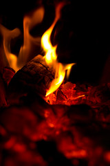 * (Roy Sieh) Tags: fireplace flames burning heat larkollen
