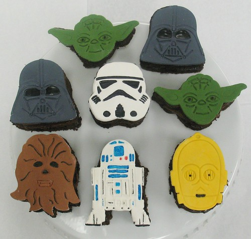 [Image from Flickr]:Star Wars mini cakes