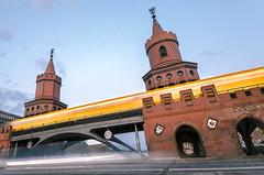 1 second journey [explored] (Tafelzwerk) Tags: bridge berlin nikon sigma ubahn bluehour brcke bahn treptow goldenhour neuklln oberbaumbrcke langzeitbelichtung bvg longtimeexposure blauestunde stralau goldenestunde 816mm d7000 tafelzwerk