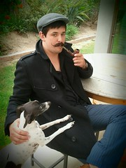 The simple things with Foad Wax (FOAD WAX) Tags: portrait haircut male hair pipe content whippet smoking moustache grooming toad moustaches wax handlebar mansbestfriend mustache satin smoker suave gentleman pomade gentlemen dapper patt flatcap foad pipesmoker foadwax