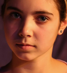 The Dark Side of the Face (ybiberman) Tags: portrait girl israel eyes jerusalem adolescent