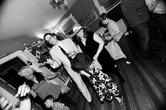 _MG_9069-50 (k.a. gilbert) Tags: bw dancing beth flash stephen indoors handheld inside fullframe manualfocus 116 uwa stephenshouse oncameraflash oncamera 430exii tokina1116mmf28 canon430exii ettl2 canon5dc 2012derbyparty chambersshouse