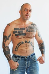 Scary (masonstormhead) Tags: tattoo scary anger criminal tough thug brassknuckles knuckleduster