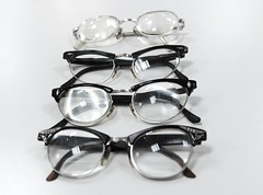 seattle blackandwhite usa eye classic silver glasses washington style 1950s specs donations northgate blackrims lenscrafters 6943 thicklens 4pair lenscraftersdonations evidenceoflife1950sglasses