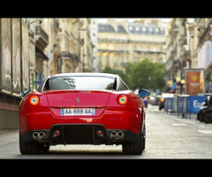 599 GTB Fiorano (Gskill photographie) Tags: sunset red paris france rouge ferrari 70200 supercar f4 gtb v12 sportcar 599 lavenue fiorano gskill worldcars