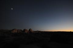 last light (*monika) Tags: california usa moon rock night dark nikon rocks darkness nightfall lastlight joshuatreenationalpark d300s