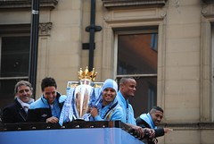 The smiles say it all (zawtowers) Tags: city sergio manchester vincent may smiles happiness victory parade gael roberto title 14th monday manager samir premier epic league champions manchestercity mcfc winning mancini 2012 deansgate clichy kompany nasri agero
