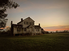 at the end of another day (History Rambler) Tags: old sunset house abandoned home rural south northcarolina historic southern plantation daffodil antebellum halifaxcounty