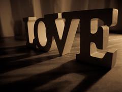 Love Hate (Caledonia84) Tags: wood love word shadows hate s100fs