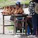 Teste di maiale in fila (Mercado indigeno di Saquisilí)