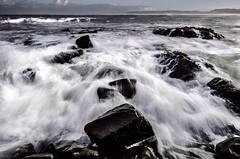 Port Waikato Rush (Nick Twyford) Tags: sea newzealand seascape beach water sunrise nikon surf waterfront auckland filter lee waikato northisland westcoast portwaikato