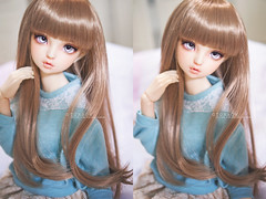Volks FCS only wig (TURBOW [ idle & busy ]) Tags: asian doll caroline bjd resin superdollfie volks abjd elyse lorina balljointeddoll sdgr sdgraffiti sd16 viridianhouse fcswig nekohigeeyes
