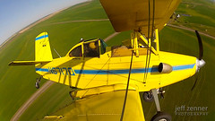 On the Turn (jeffzenner) Tags: field yellow plane airplane fly farm aviation wheat farming wing engine aerial spray crop ag duster agriculture dust schweizer turbine biplane grumman pesticide cropdusting fungicide herbicide applicator agcat kuther aerialspraying aerialapplicator g164a kutherairservice n6717q