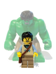 You wont like me when I'm ANGRY! (felt_tip_felon) Tags: comic lego gamma radiation figure hulk marvel avengers brucebanner