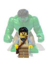 You wont like me when I'm ANGRY! (felt_tip_felon) Tags: comic lego gamma radiation figure hulk marvel avengers brucebanner