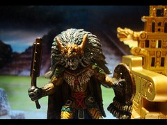 Tlamexic Battlelord (ridureyu1) Tags: toy toys actionfigure miniature pyramid aztec feathers mexican mayan rpg mummy roleplayinggame dreamscape headdress mestizo aztecmummy enrage wizardsofthecoast wotc toyphotography dreamblade warclub sonycybershotdscw220 battlelord bloodcut tlamexicbattlelord tlamexic