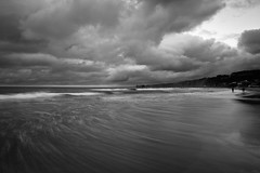 La Jolla Shores cloudy sunset (John Getchel Photography) Tags: longexposure sunset blackandwhite beach clouds waves sandiego cloudy lajollashores wwwjohngetchelcom