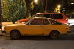 1982 Datsun 210 (Curtis Gregory Perry) Tags: auto orange car night oregon portland 1982 automobile long exposure mobil motor 82 datsun automvil 210 xe automobil     samochd  kotse  otomobil    hi       bifrei    automobili       gluaisten