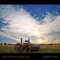 Shropshire countryside reworked (Guy@Fawkes) Tags: sky clouds countryside shropshire farm machinery farmmachinery supershot