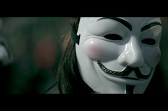 Guy Fawkes Mask (James Yeung) Tags: cinema movie bokeh candid protest guyfawkes mayday cinematic londonengland