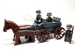 (5-WIDE) Heeresfeld HF1 Pferdesportwagen (Horse-drawn Carriage) (LegoIiner PiIot) Tags: lego wwi wwii german productions kraut sauer hf1 legoboy legoboy12345678 legoboyproductions