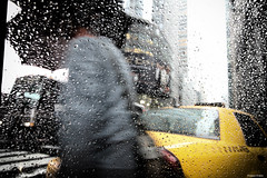 under the rainbow (Nassia Kapa) Tags: nyc usa newyork window rain yellow fog us cloudy cab taxi yellowcab raindrops nn nassia nassiakapa